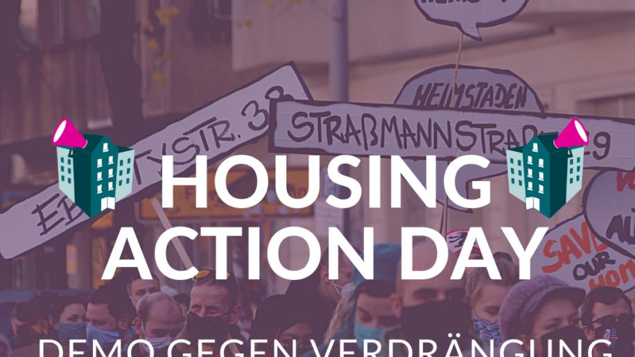 Housing Action Day - Demo gegen Verdrängung und #Mietenwahnsinn